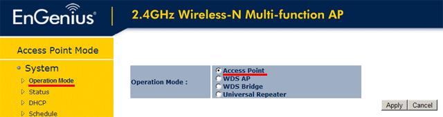 EnGenius: Настройка режима Access Point