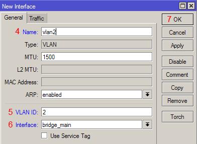 Настройка VLAN MikroTik