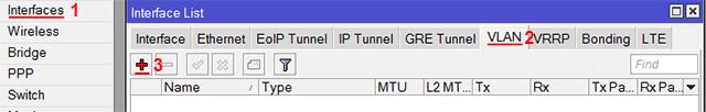 Добавление VLAN интерфейса в MikroTik