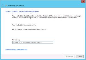 Как активировать Winows 8 и Windows Server 2012, если нет ссылки «изменить ключ продукта»