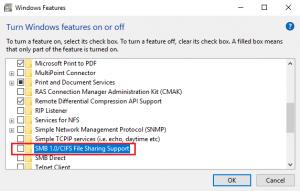 При отключении SMB v1.0 не запускается служба «Рабочая станция»