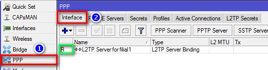 Проверка L2TP-подключения на маршрутизаторе МикроТик