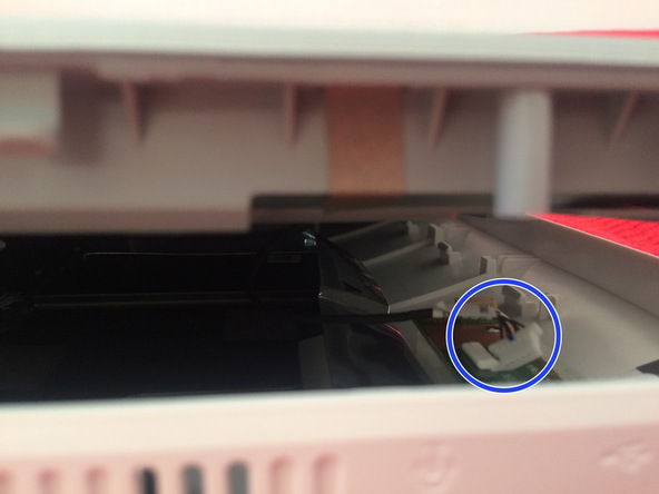 There is an also connector to display from motherboard and do not hurry to lift up display