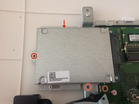 Now you can see motherboard, covered up by metal cover