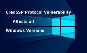 Ошибка при удаленном подключении «… Указанная функция не поддерживается … исправление шифрования CredSSP …»