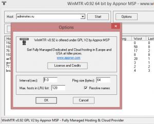 WINMTR как инструмент диагностики подключения к Интернет и/или соединения до определенного узла