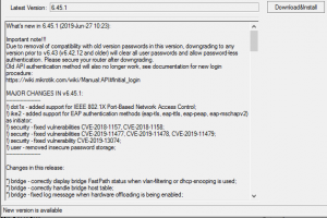 Mikrotik выпустил новую версию RouterOS — 6.45.1