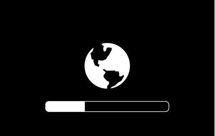 Глобус с индикатором выполнения