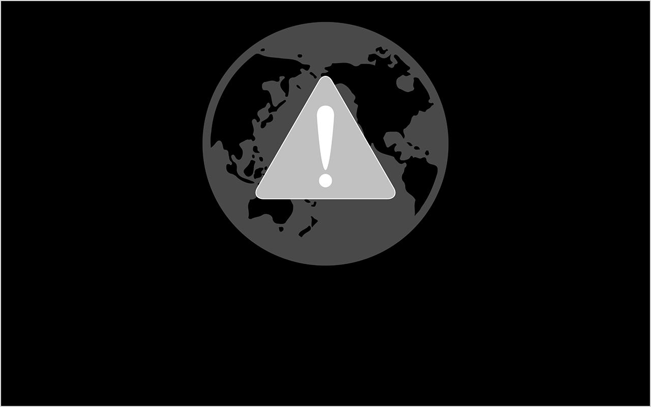 Значок глобуса с символом оповещения