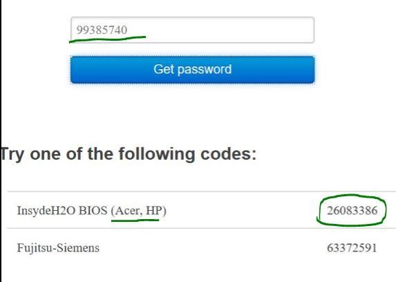 Сайт паролей для BIOS