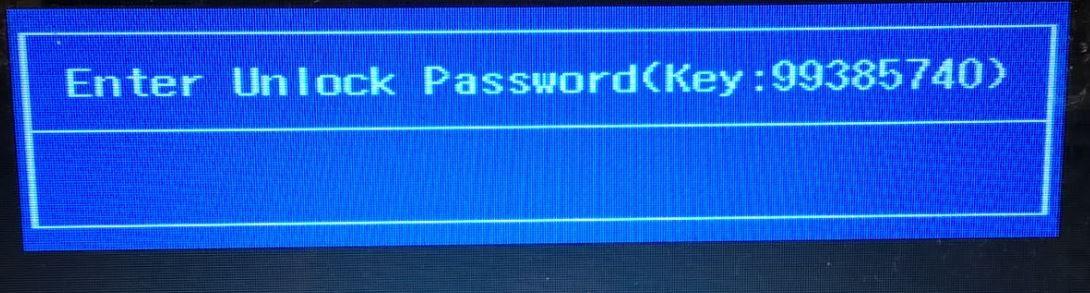 Unlock password key BIOS